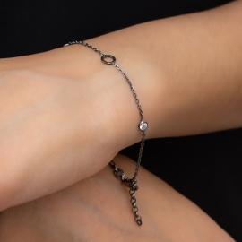Zirkonia Armband Schwarz