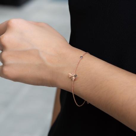 Bienen Armband Rosé