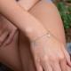 Münzen Armband Weiß