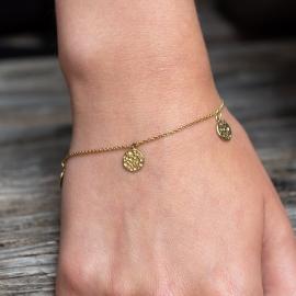 Münzen Armband Gelb