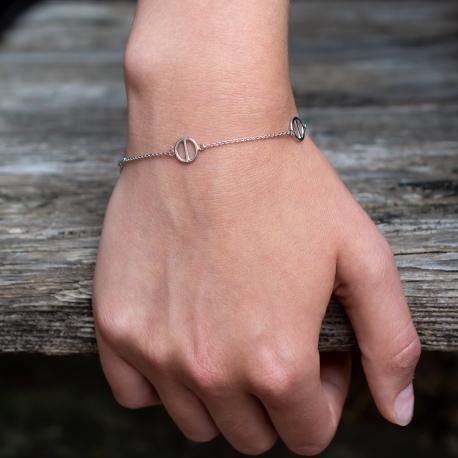 Kreisstich Armband Weiß