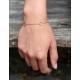 Kreisstich Armband Gelb