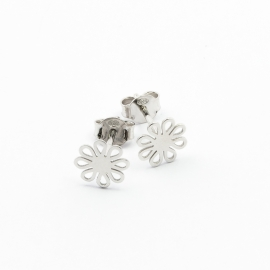 Floral Ohrstecker Silber