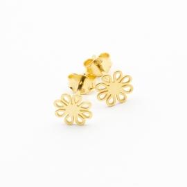 Floral Ohrstecker Gold