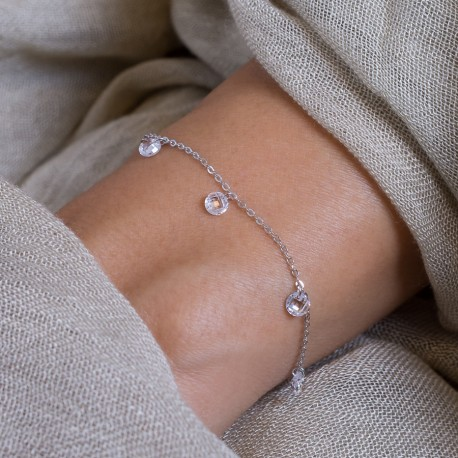 Free Zirkonia Armband Weiß