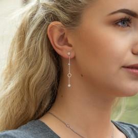 Zirkonia Ohrringe Weiß
