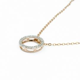 Diamanten Kreis Anhänger Roségold