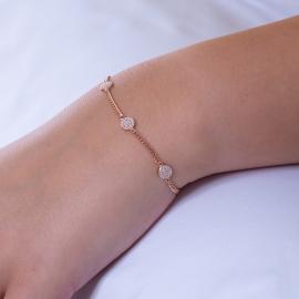 Zirkonia Dots Armband Rosé
