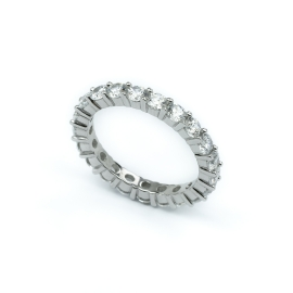 Zirkonia Ring Weiß