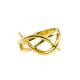 Knoten Ring Gelb