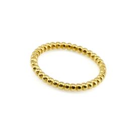 Kügelchen Ring Gelb