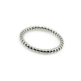 Kügelchen Ring Weiß
