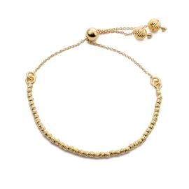 Armband mit modernem Ziehverschluss in Gold