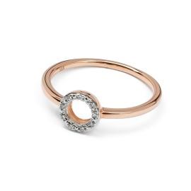 Diamanten Kreis Ring Roségold