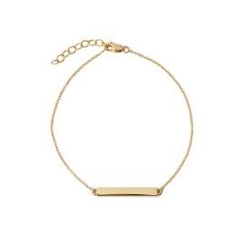 Schildarmband Gold