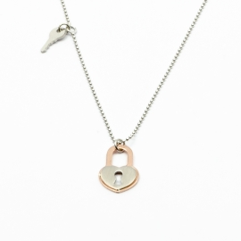 Schloss & Schlüssel Halskette