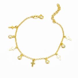 Armband mit Kreuzen & Zirkonia