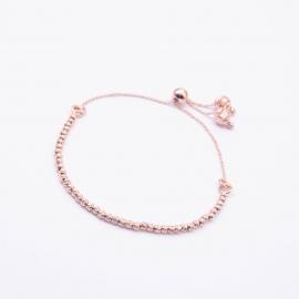 Ziehverschluss Armband Rosé