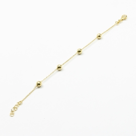 Kugel Armband Gelb