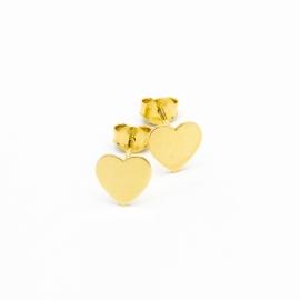 Herz Ohrstecker Gelb