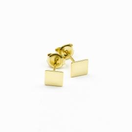 Quadrat Ohrstecker Gelb