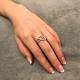 Knoten Ring Weiß