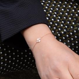 Kleeblatt Armband Rosé