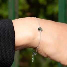 Kleeblatt Armband Weiß