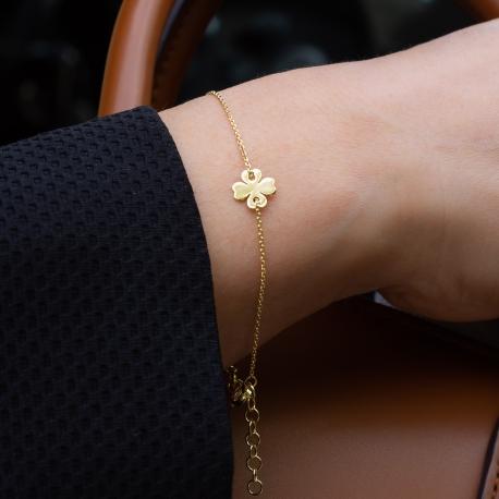 Kleeblatt Armband Gelb
