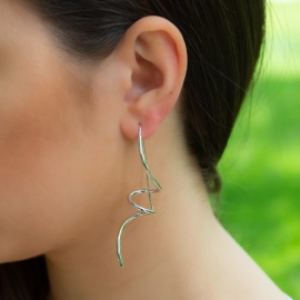 Schnecken Ohrringe Weiß