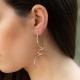 Schnecken Ohrringe Rosé