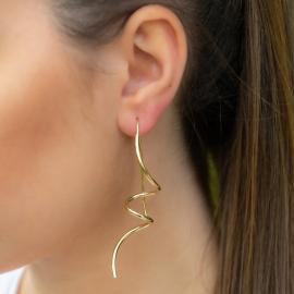 Schnecken Ohrringe Gelb