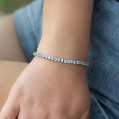 Tennis Armband Weiß